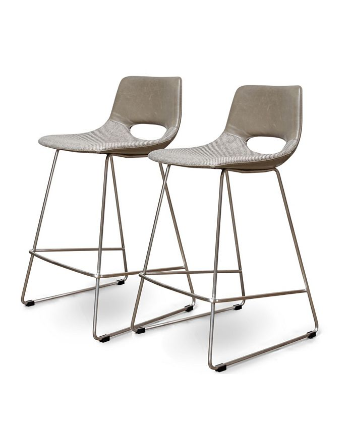 Cenports - Amal 24 in. Counter Stool - Set of 2