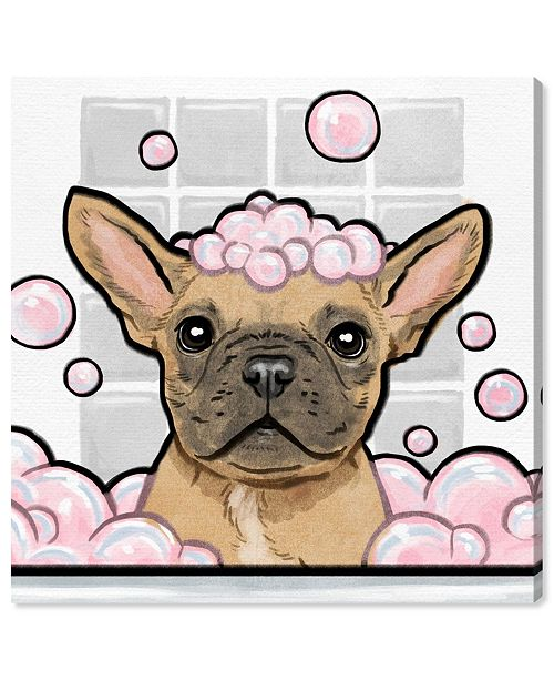 """Oliver Gal Bubbly Personality Square Canvas Art, 16"""" x 16"""""""