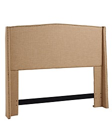 Stratford Upholstered Wing Headboard, Full/Queen