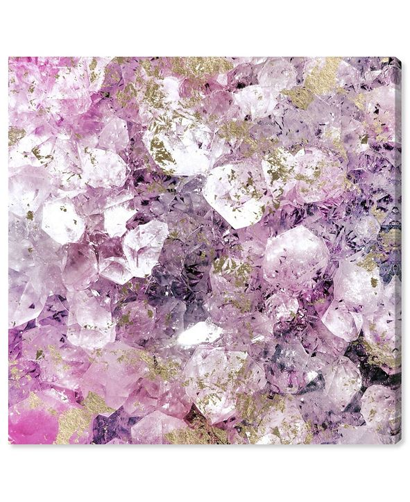 "Oliver Gal Crystal Romance Canvas Art, 12"" x 12"""