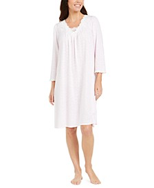 Jacquard Knit Nightgown