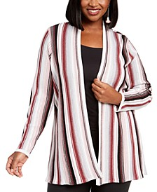INC Plus Size Striped Duster Cardigan, Created For Macy's