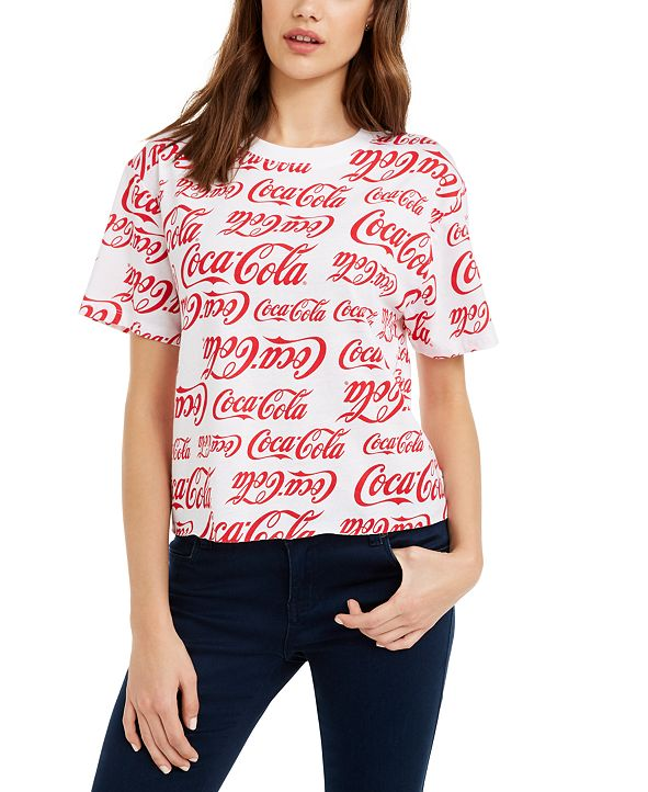 Love Tribe Juniors' Cotton Coca-Cola Printed T-Shirt