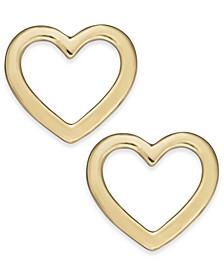 Gold-Tone Open Heart Stud Earrings, Created For Macy's