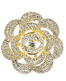 Gold-Tone Crystal Flower Pin, Created For Macy's