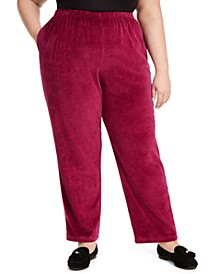 Plus Size Bright Idea Velour Pants