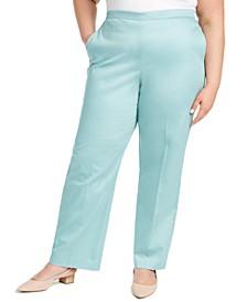 Plus Size Cottage Charm Sateen Pants