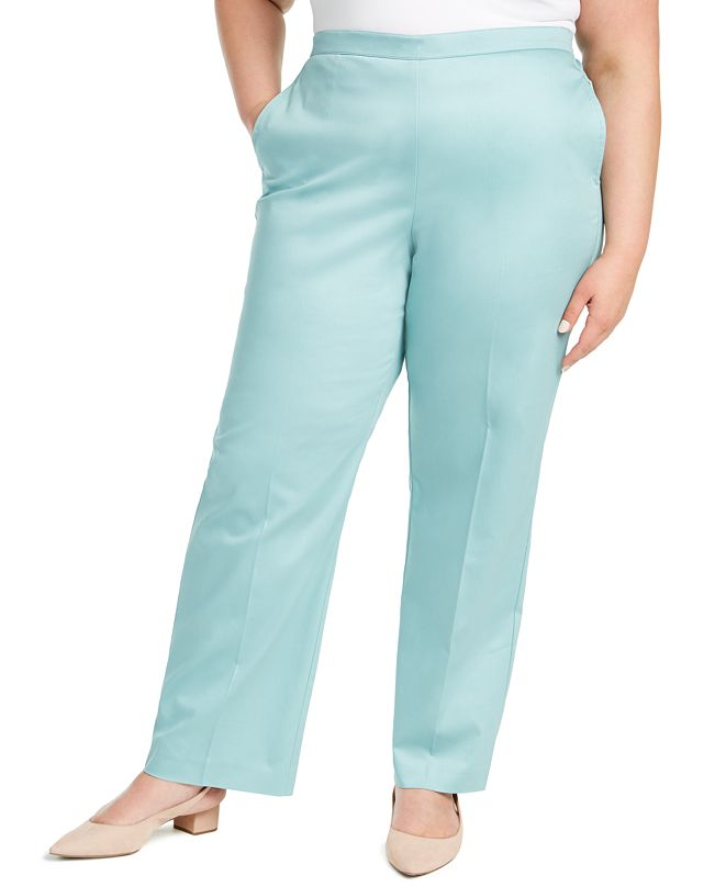 Alfred Dunner Plus Size Cottage Charm Sateen Pants