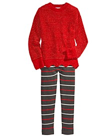 Big Girls Scalloped Chenille Sweater & Sweater Leggings, Created For Macy's