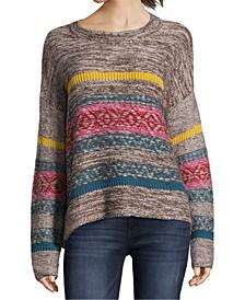 Petite Novelty-Striped Sweater