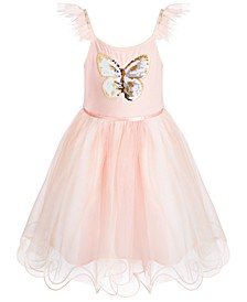 Little Girls Flip-Sequin Butterfly Dress