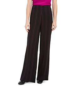 Striped Wide Leg Pants, Created for Macy's