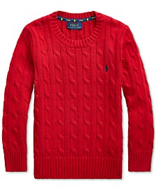 Little Boys Cable-Knit Cotton Sweater