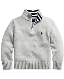 Toddler Boys Cotton Half-Zip Sweater
