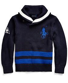 Toddler Boys Big Pony Cotton Shawl Sweater