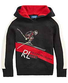 Little Boys Skier Merino Hooded Sweater, Created For Macy's
