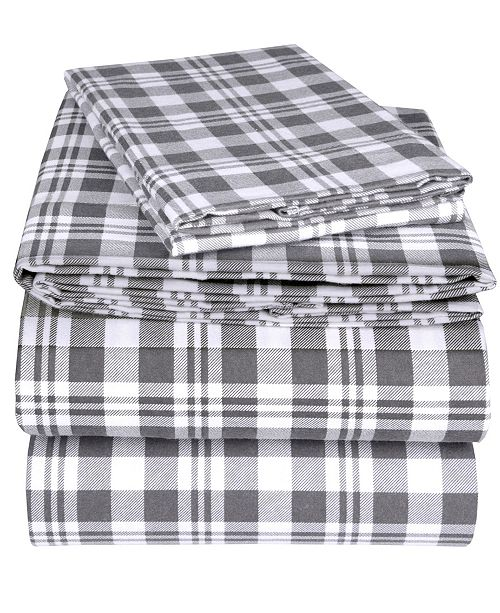 EnvioHome Flannel Sheet Set, Twin