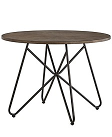 Webber Round Dining Table with Iron Legs
