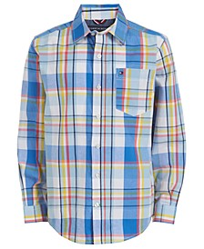 Big Boys Geordie Stretch Plaid Shirt