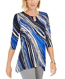 Printed Hardware Keyhole Tunic, Created For Macy's