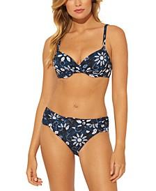 Printed Underwire Bikini Top &  Printed Sarong Bikini Bottoms