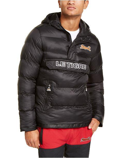 Le Tigre Men's Sloan Puffer Hooded Bomber  Jacket
