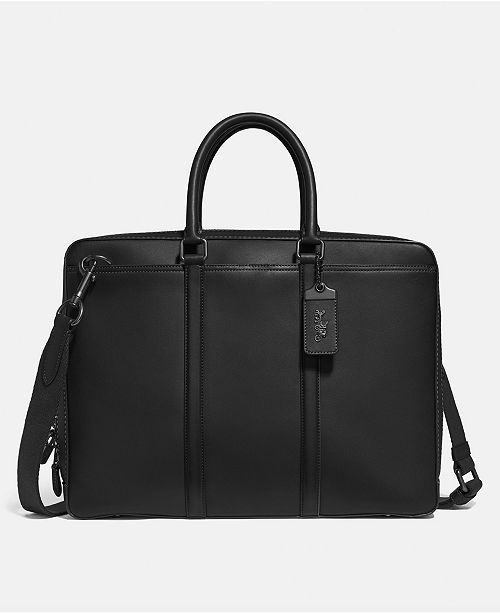 COACH Men's Metropolitan Slim Leather Briefcase
