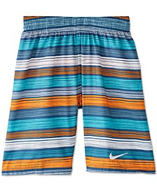 Big Boys 1-Pc. 6:1 Stripe Volley Swim Trunks