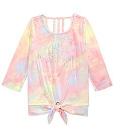 Big Girls Sparkle Unicorn Tie-Dyed T-Shirt