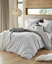 Ultra Soft Reversible Crinkle Duvet Cover Set - Twin/Twin XL