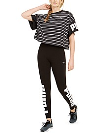 Rebel Cotton Striped T-Shirt