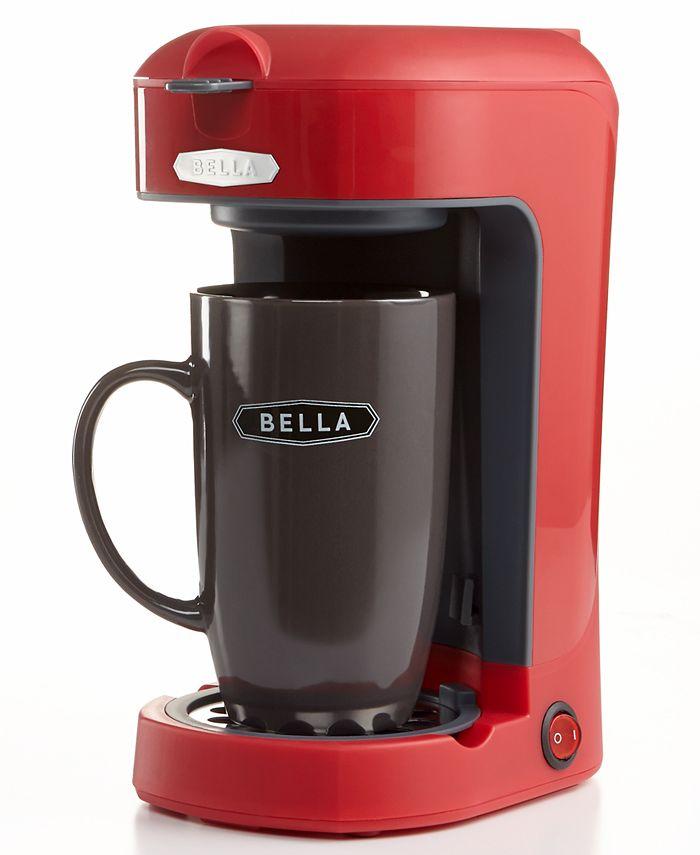 Bella - Single Serve Brewer, Scoop Red Coffee Maker