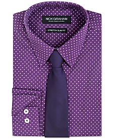 Men's Slim-Fit Dress Shirt & Tie