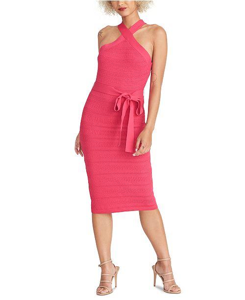 RACHEL Rachel Roy Knit Halter Dress