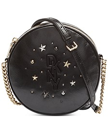 Krescent Leather Stud Canteen Crossbody