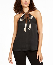 Orchid Sequined Halter Top