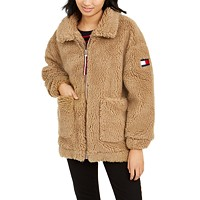 Tommy Hilfiger Sherpa Coat (Camel / Sky Captain)