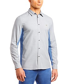 Men's Solid Poplin Tattersall Woven Shirt