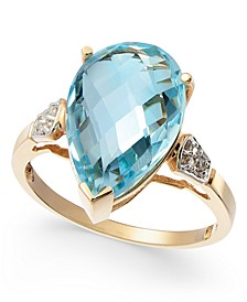 Blue Topaz (6-1/2 ct. t.w.) & Diamond Accent Ring in 14k Gold