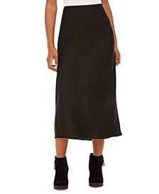 Juniors' Bias Pull-On Midi Skirt