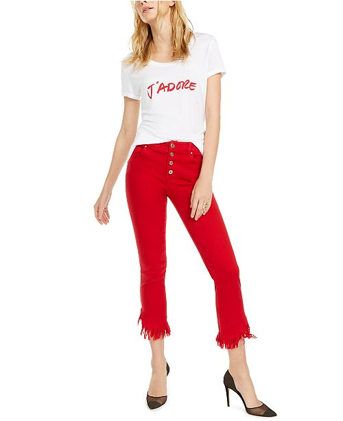 INC International Concepts INC J'Adore T-Shirt & Cropped Mop-Hem Jeans, Created for Macy's