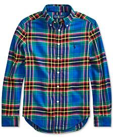 Big Boys Plaid Cotton Twill Shirt
