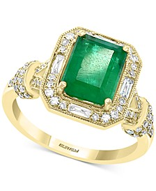 EFFY® Emerald (2-1/5 ct.-t.w.) & Diamond (3/8 ct.-t.w.) Ring in 14k Gold