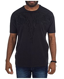 3D Graphic Studded Wings T-Shirt