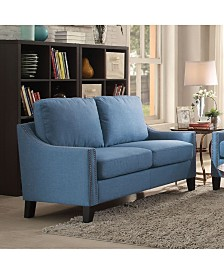 Enjoyable Benzara Nail Head Trim Wingback Design Love Seat Bench With Pabps2019 Chair Design Images Pabps2019Com