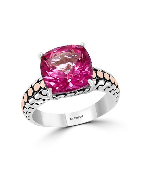 EFFY Collection EFFY® Pink Topaz (6-7/8 ct. t.w.) Ring in 18k Yellow Gold and Sterling Silver