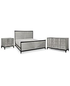 Symphony  Bedroom 3-Pc. Set (Queen Bed, Nightstand & Dresser)