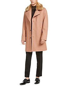 INC Men's Scott Topcoat with Faux Fur Collar, Created For Macy's