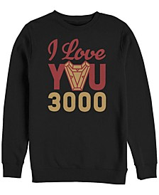 Men's Avengers Endgame I Love You 300 Arc Reactor, Crewneck Fleece