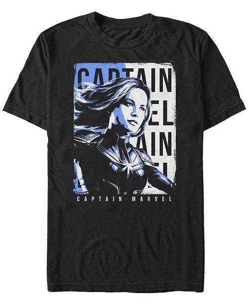 Marvel Men's Avengers Endgame Captain Marvel Side View Poster, Short Sleeve T-shirt